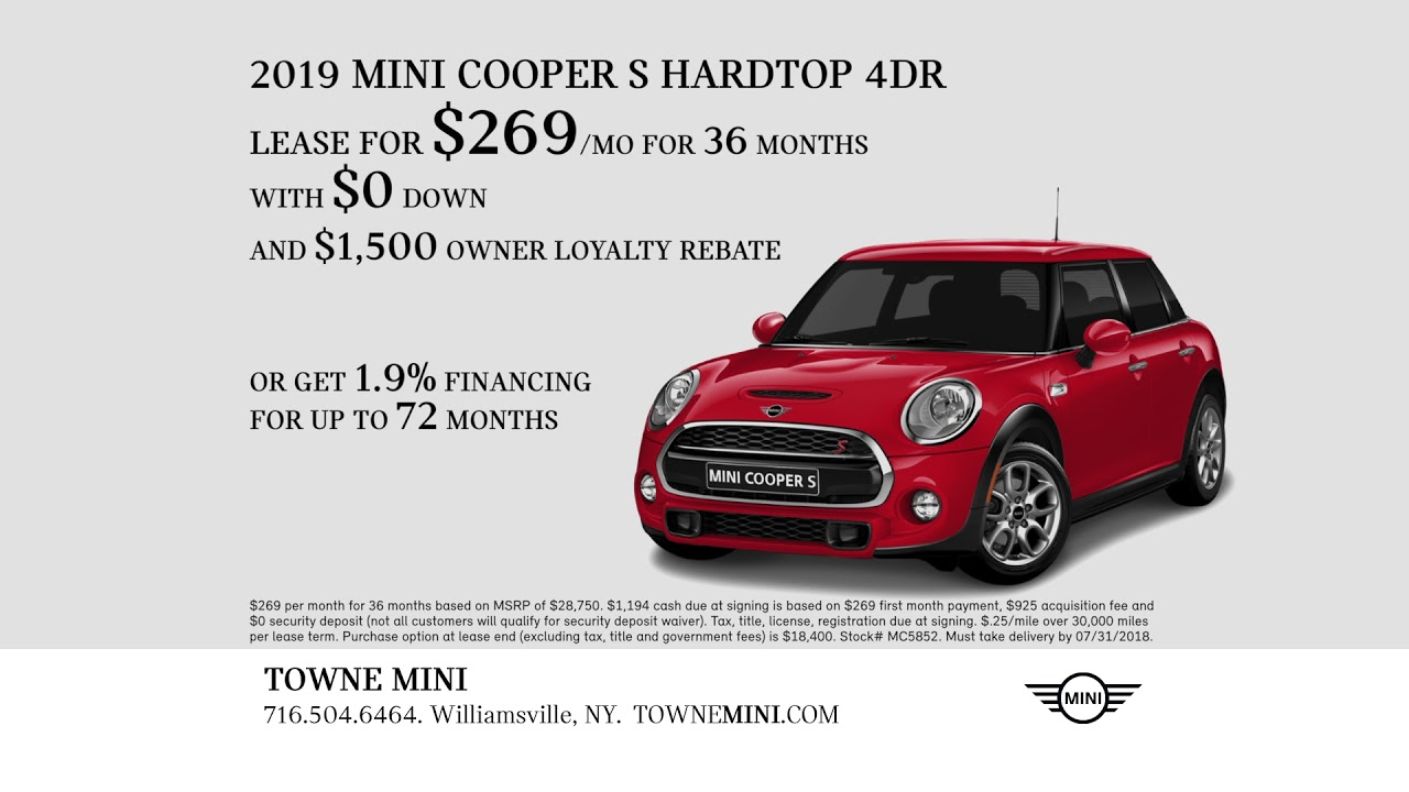 Summer 2018 S Event Towne Mini Cooper Hardtop Countryman All4 Special Lease Offers
