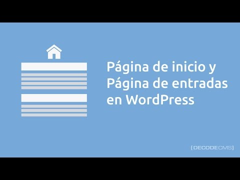 Descargar Video Página de inicio y página de entradas en WordPress