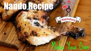Nando's Peri Peri Chicken Recipe How to make Piri Piri Chicken Make your own Nando Chicken at home easy recipe piri piri or Peri Peri ingredients: 1 large ...