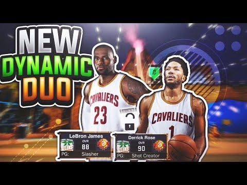 NEW CAVS DYNAMIC DUO w/ LEBRON & D ROSE! THE NEW GODLY DUO NBA 2K17