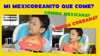 "Qué comerá mi bebe ""Mexicoreanito""? Comida mexicana? o coreana? l Cuidar al bebe en México"