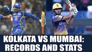 IPL 10 : Kolkata vs Mumbai T20 match; Records and Stats | Oneindia News