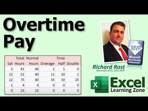 Microsoft Excel Tutorial - Calculating Overtime Pay for Empl