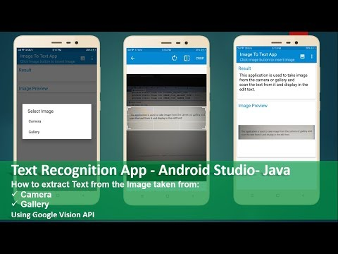 Text Recognition App Android Studio Java
