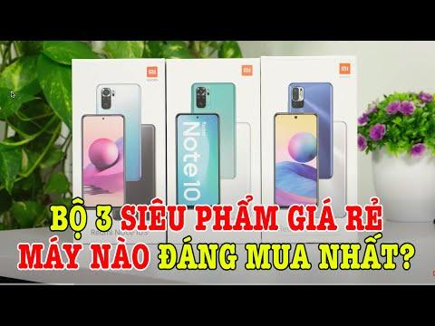 So sánh Redmi Note 10 với Redmi Note 10 5G và Redmi Note 10s