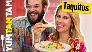 Tacos oder Burritos? TAQUITOS! // Taquitos mit Avocado-Dip // #yumtamtam