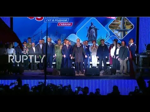 LIVE: Putin makes appearance at concert celebrating Crimea's reunification with Russia - ENG
