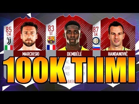 PARAS 100K SQUAD BUILDER!! - FIFA 18