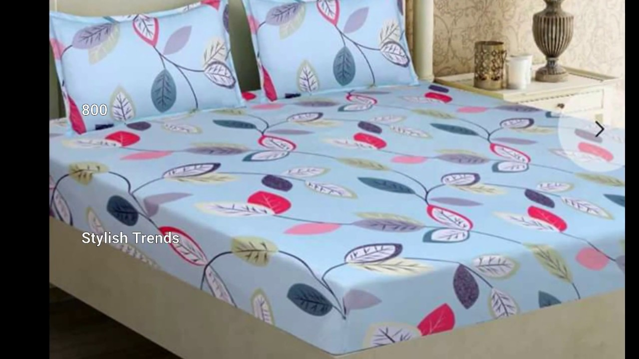 Latest Glace Cotton Bed Sheets With Price