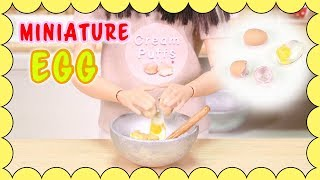 [How to make] Miniature Egg for barbie dolls