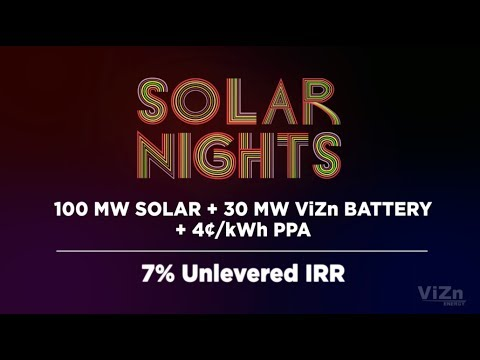 Solar Nights  Utility Scale Solar and Wind Power for Less than Coal
