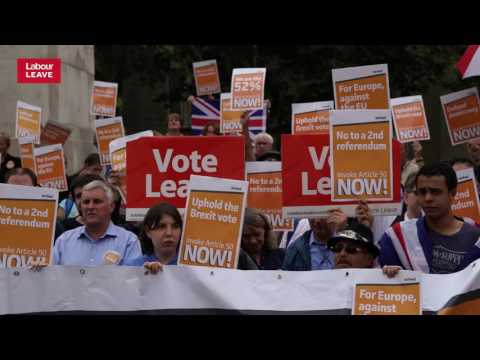 Article 50 rally in London September 6th 2016, Labour Leave