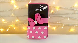 Diy funda para telefono movil celular de Minnie Mouse | Manualidades fáciles |Isa ❤️