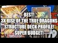 *YUGIOH* BEST! 3X RISE OF THE TRUE DRAGONS STRUCTURE DECK PROFILE! SUPER BUDGET!ONLY $30! JULY 2016!