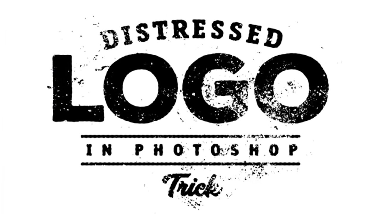 photoshop how to distress a logo effect youtube