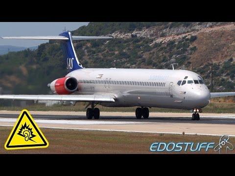 "SAS - ""Maddog"" MD-82 - Takeoff with ALMIGHTY! Engine! Sound!"