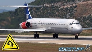 "SAS - ""Maddog"" MD-82 - Takeoff with ALMIGHTY! Engine! Sound!"