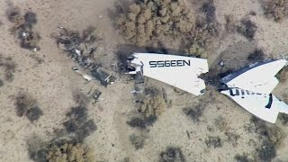 Virgin Galactic space tourism rocket crashes during test flight