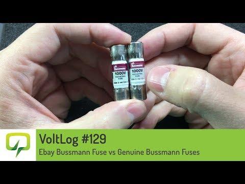 VolLog #129 - Ebay Bussmann Fuse vs Genuine Bussmann Fuses DMM-B-44/100-R