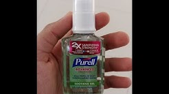 Purell Refreshing  Advanced Hand Sanitizer Test ( Made In  USA )