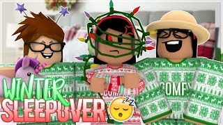 Roblox Bloxburg| Winter Sleep Over