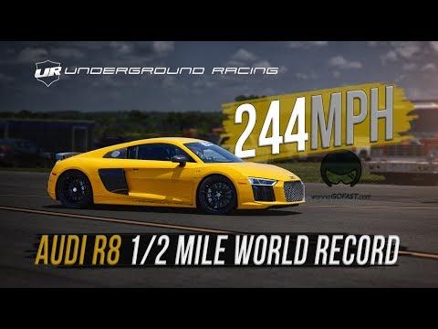 Underground Racing Audi R8 Half Mile World Record 244 MPH