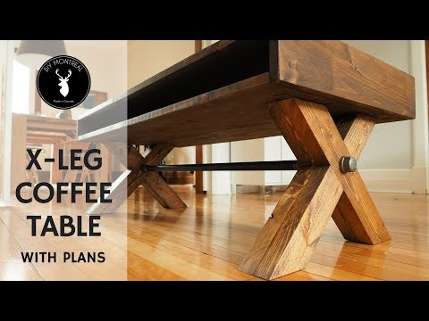 X Leg Coffee Table | with PLANS