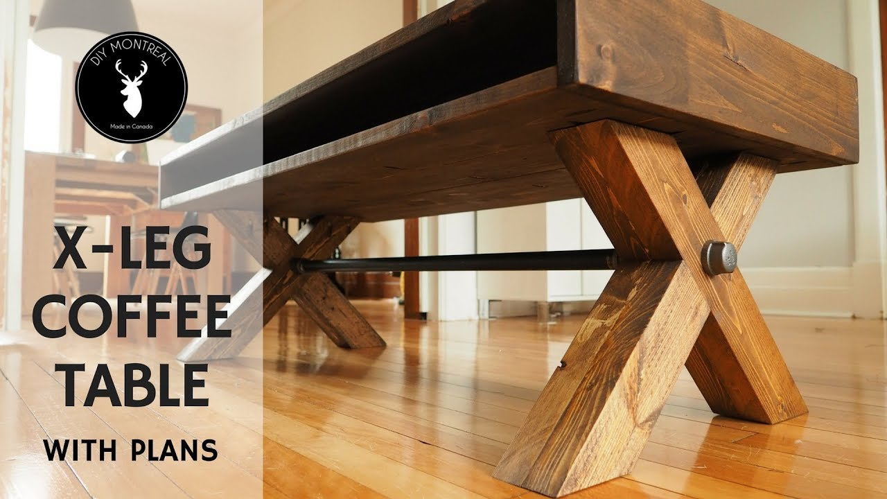 x leg coffee table with plans