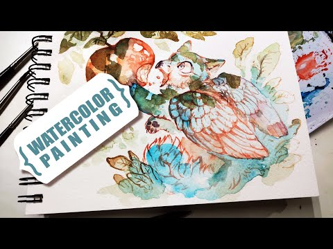 My COMIC IS BEING PRINTED And Tentative Plans For My Online Shop | Watercolor Sketchbook Session