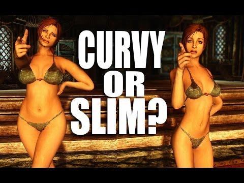 CURVY or SLIM? (Racemenu Morphs & Bodyslide) - Skyrim Mods Watch
