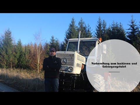 Türen vorbereiten und Büsche fahren zum Entsorgungsgelände | MB Trac 800 #4