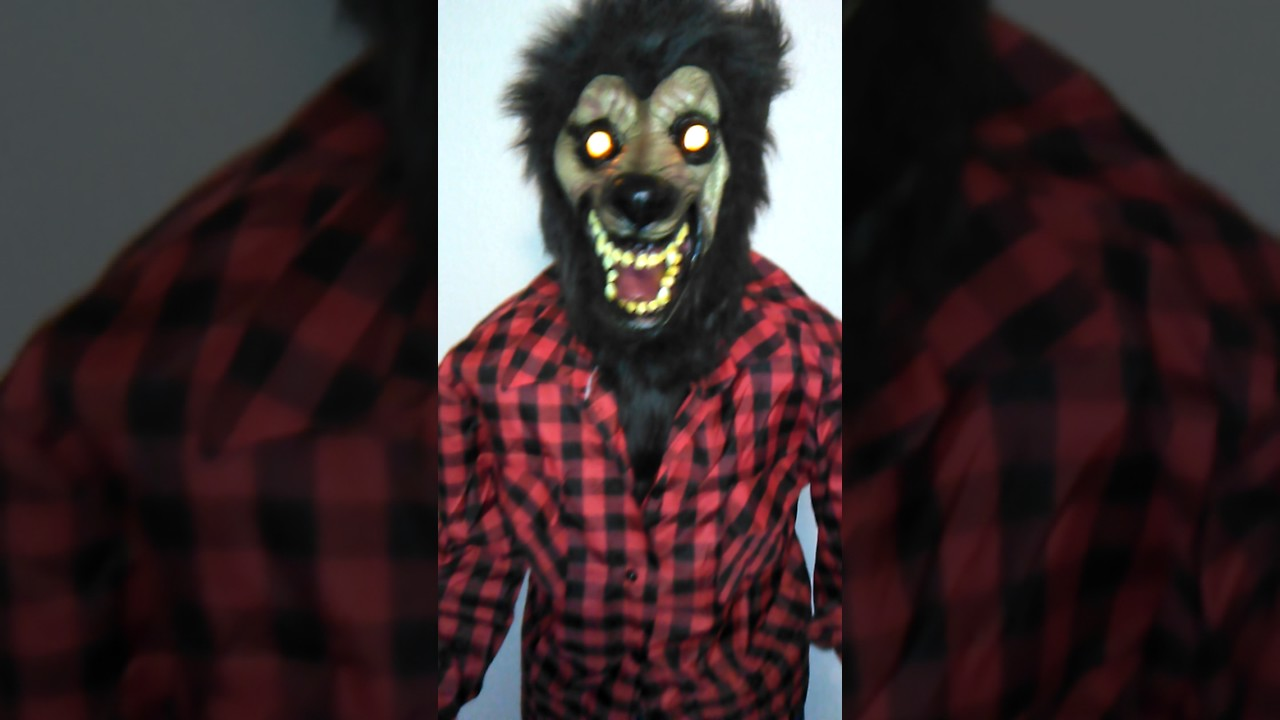 lifesize werewolf dad animated howling halloween prop