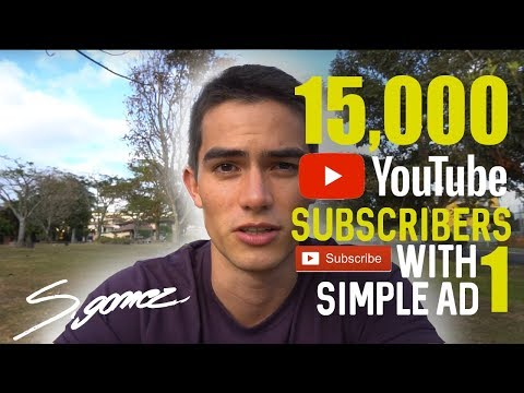 How I Got 15,000 Youtube Subscribers With 1 Simple Ad