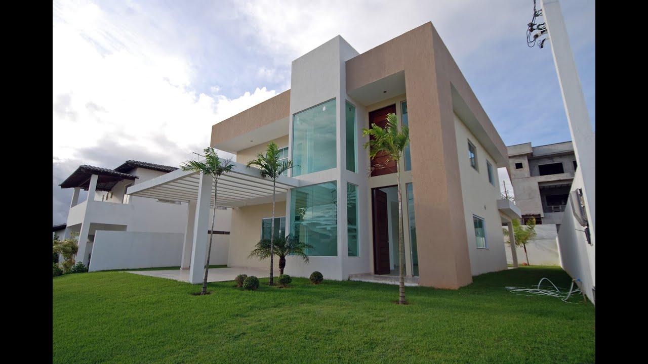 Moderna e nova casa a venda no alphaville litoral norte for Casas modernas brasil