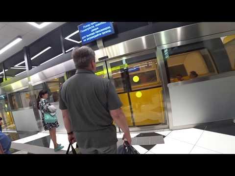 Полет на ... метро. Шереметьево. Шаттл между терминалами. People Mover In Sheremetyevo Airport