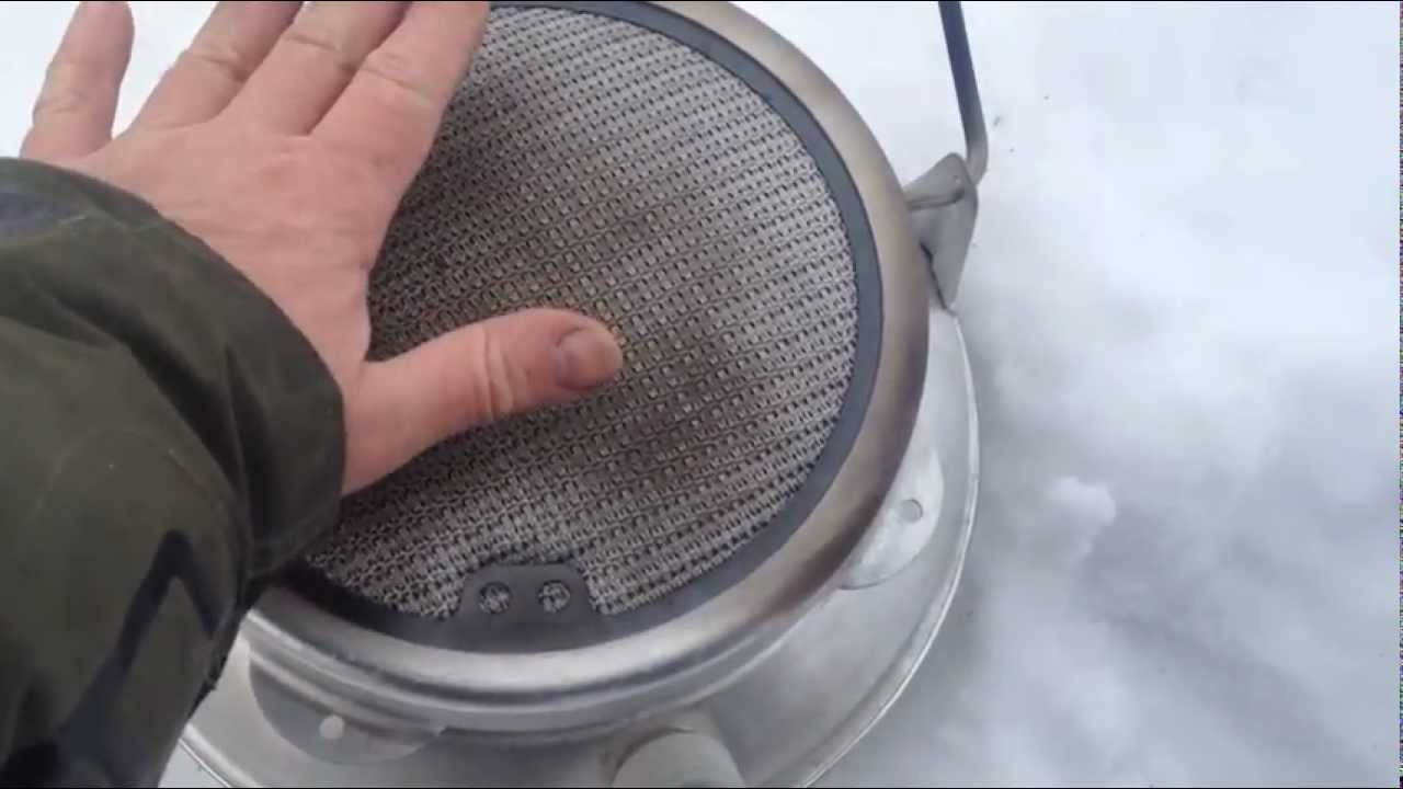 Бензиновая каталитическая грелка своими руками