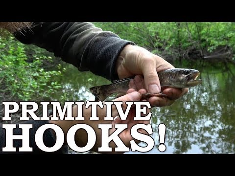 Fishing With Primitive Gorge Hooks - Survival Fishing Success!