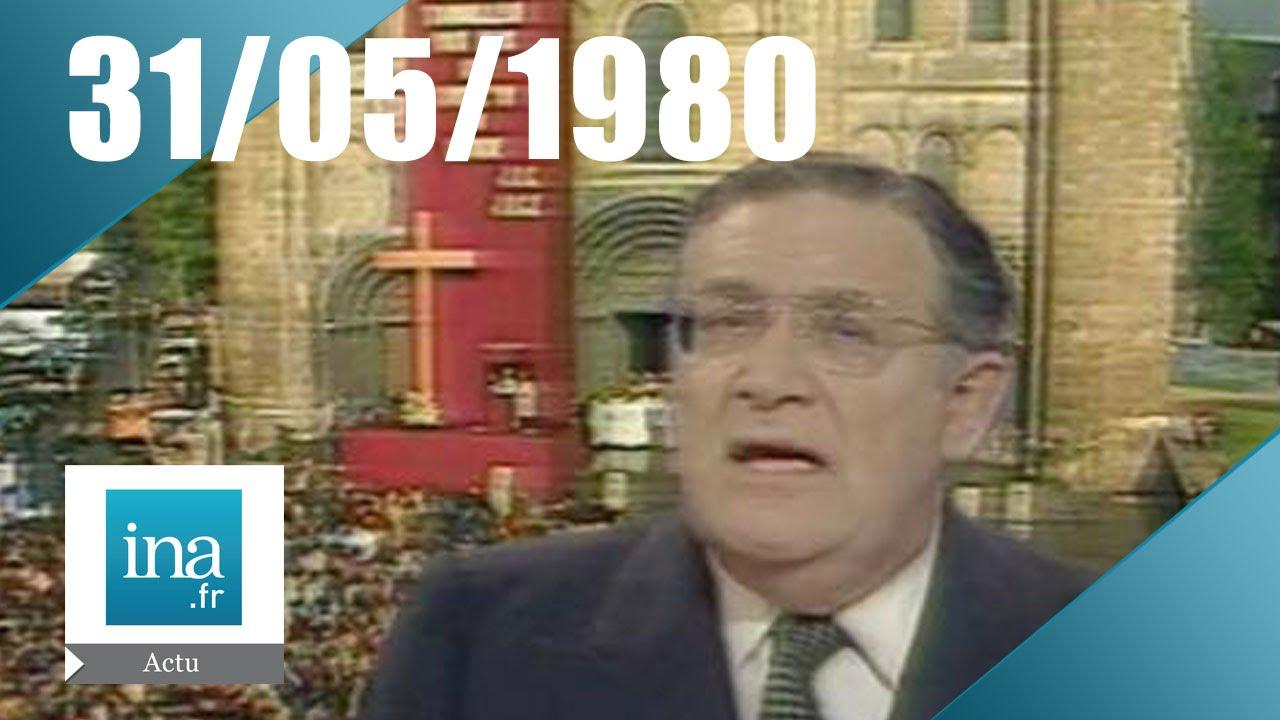 20h Antenne 2 du 31 mai 1980 - Jean-Paul II en France - Archive INA