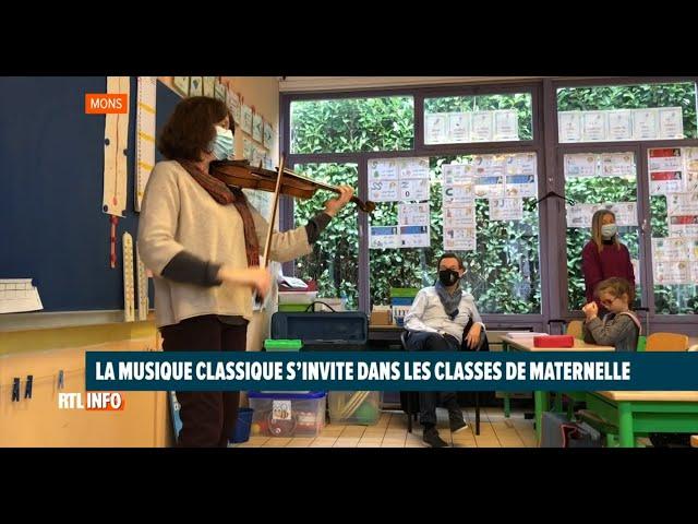 La musique classique s'invite en maternelle -  RTL INFO, JT 03/02/2021