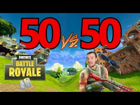 Fortnite Battle Royale! NEW GAME MODE! 50v50! Feat. Nathan S