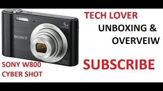 [HINDI] Sony Cyber Shot W800 UNBOXING & Overveiw