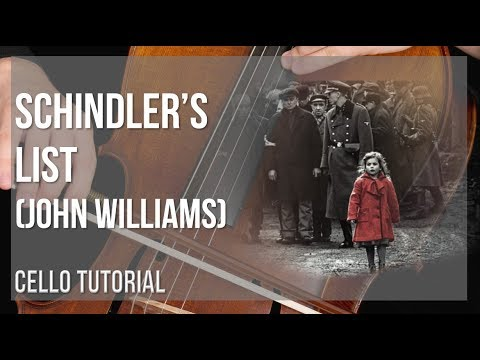 How to play Schindler's List by John Williams on Cello (Tutorial)