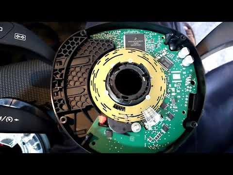 Mercedes B180 . Steering Angle Sensor. датчик угла поворота руля. ставим правильно на место