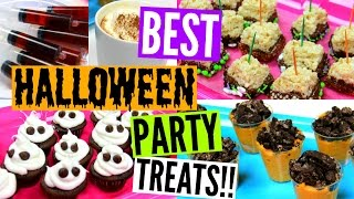 Diy Best Halloween Party Treats!! 2015 | Pumpkin Spice Latte At Home & Other Fun Deserts!!
