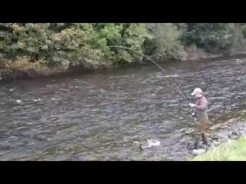 Chris Burke Catches Salmon Fly Fishing On  Border Esk