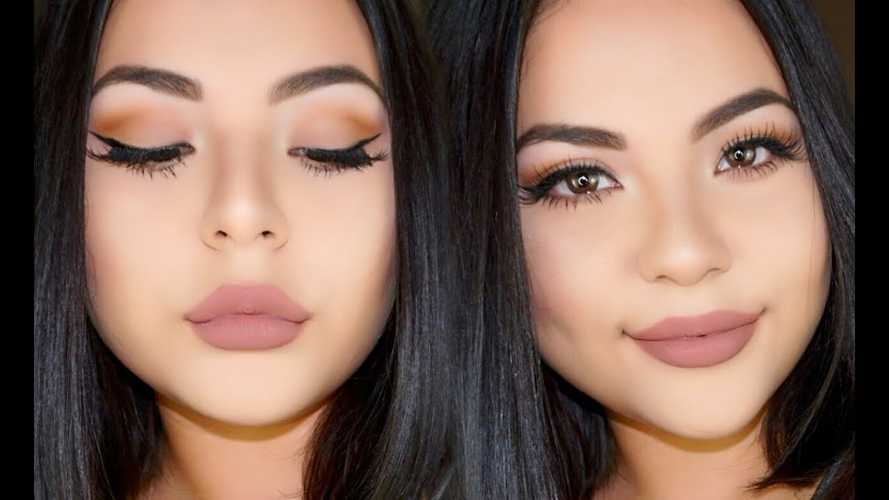 Extrêmement Everyday Glam Nude Makeup - YouTube AE41