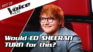 TOP 10 | BEST ED SHEERAN Blind Auditions in The Voice Kids (part 1)
