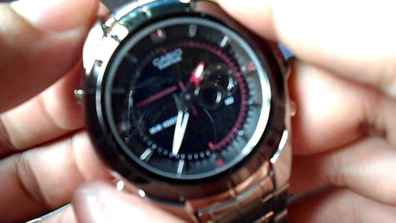 casio edifice efa 119bk 1avdr youtube rh youtube com reloj casio edifice efa 119 manual español Relojes Casio Precios