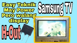 Samsung Crt TV| May Power pero…