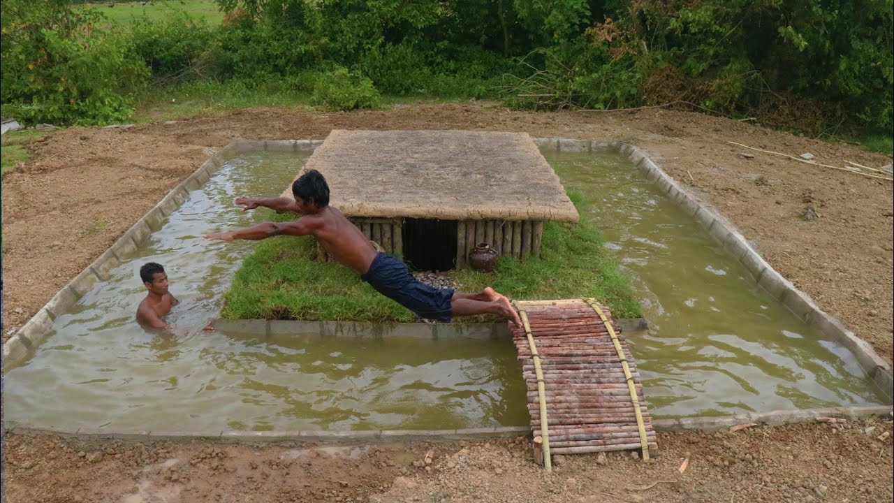 Build swimming pool around underground house youtube - Swimming pool construction in india ...
